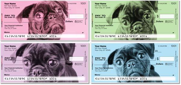 Colorful Pug Checks